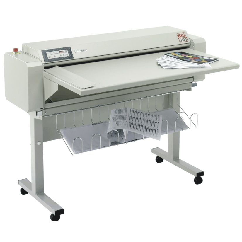 RIG-801 drawing blue-print map folding machine electric A0 ... on shrink wrapping machine, scoring machine, perforating machine, spiral binding machine, drilling machine, laminating machine, round cornering machine,